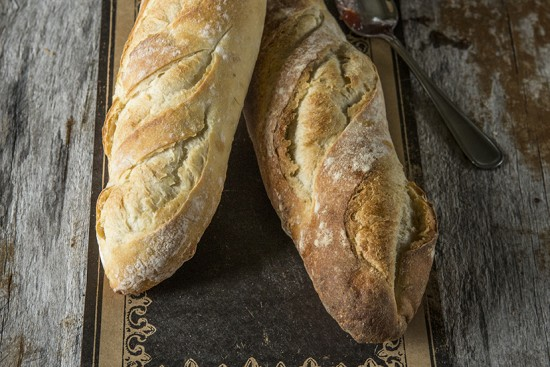 Whole wheat baguette par-baked