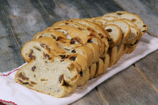 Raisins bread dough